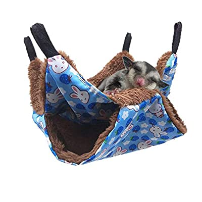 Oncpcare Pet Cage Hammock, Bunkbed Sugar Glider Hammock, Guinea Pig Cage Accessories Bedding, Warm Hammock for Small Animal Parrot Sugar Glider ferret Squirrel Hamster Rat Playing Sleeping from Oncpcare