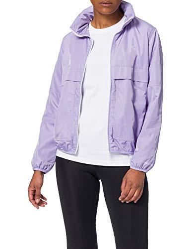 Calvin Klein Jeans Damen Contrast Zip Windbreaker Windjacke, Palma Lila, Medium