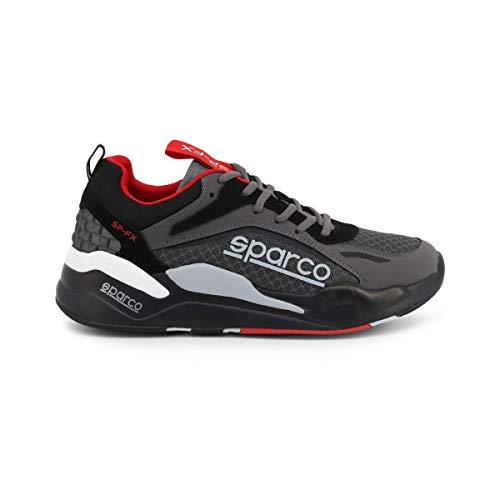 Sparco Herren SP-FX Niedrig Sportschuhe Sneakers Grau-Schwarz EU 43