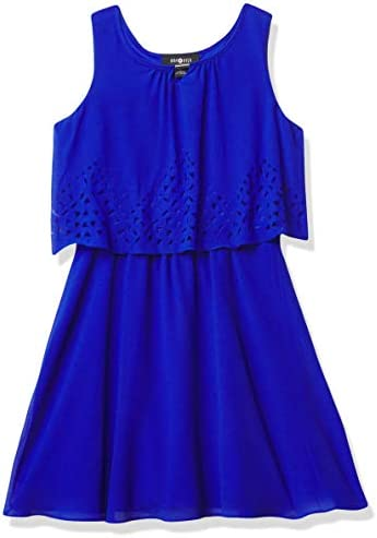 Amy Byer Girls Popover Dress Cobalt 14 product image