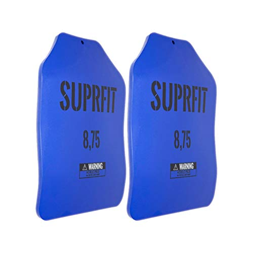 Suprfit Sigurd 3D Gewichtsscheiben - für Sigurd 3D Gewichtsweste, 2 x 8,75 lbs (8 kg), ergonomische Form, optimierte Gewichtsverteilung, Pulverbeschichtung blau