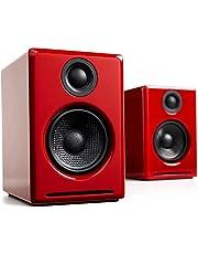 【国内正規品】Audioengine オーディオエンジン A2+ワイヤレス・パワードスピーカー l Bluetooth aptX対応・16bit DACアンプ内蔵 (レッド)
