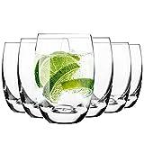 Krosno Wassergläser Saftgläser Trinkgläser | Set von 6 | 360 ML | Elite Kollektion | Perfekt für zu Hause, Restaurants und Partys | Spülmaschinenfest und Mikrowellengeeignet