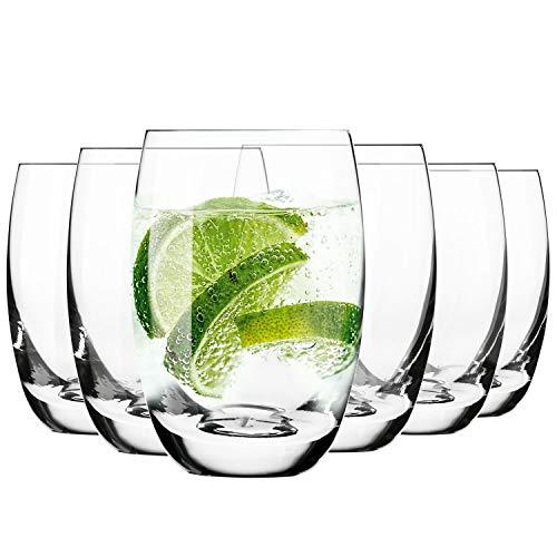 Krosno Vasos de Agua Highball | Set 6 Piezas | 360 ML | Elite Collecti