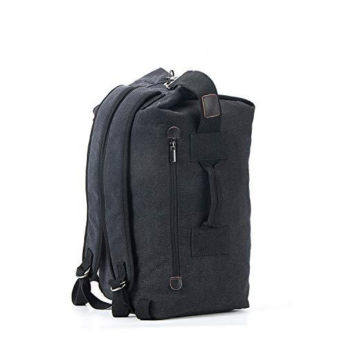 Travistar Rucksack Herren Duffle Bag Vintage Canvas Reiserucksack Mit Handtasche Funktion Hobo Tasche Seesack Für Reisen Einkaufen Arbeit Geschäftsreise