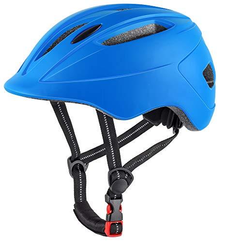 DesignSter Casco da Bici per Bambini Regolabile Casco MTB Scooter Helmet con CE (48-52CM) per...