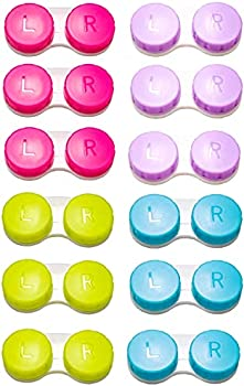 12-Pack Colorful Contact Lens Cases