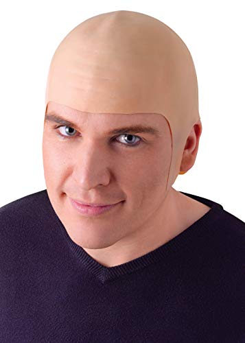BALD HEAD WIG Latex Cap Dr Evil Clown Kojak Fancy Dress (gorro/ sombrero) , color/modelo surtido
