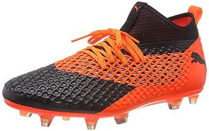 Puma Future 2.2 Netfit FG/AG, Zapatillas de Fútbol Hombre, Negro Black-Shocking Orange 02, 44.5 EU
