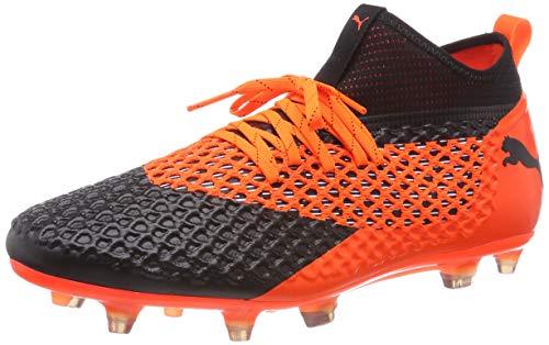 Puma Herren Future 2.2 Netfit FG/AG Fußballschuhe, Schwarz Black-Shocking Orange 02, 44 EU