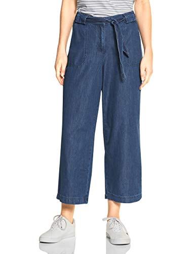 Cecil Damen 372912 Hose, Dark Blue wash, W26/L26