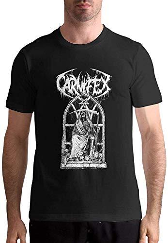 Carnifex-Riddick Reaper Men's Fashion Short Sleeve Music Band Shirts Black,Black,L