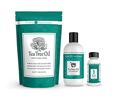 Purely Northwest Tea Tree Oil Extra-Strength Antifungal Foot and Toenail Fungus Treatment Kit with Foot Soak, Foot and Body Wash with Nail Oil by Purely Northwest
