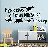 Inicio Cita Dinosaurio Pegatinas de Pared Accesorios de Decoración de la Casa para Bebés Niños Habitaciones Decoración Art Decals Niños Dormitorio Decoración 30X73CM