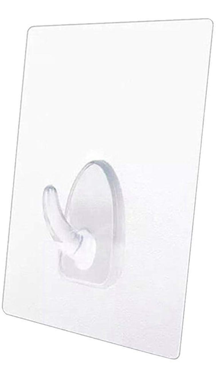 信じられない値する促進するオーディオファン 粘着フック 壁掛けフック 強力 透明なフック ジェル 粘着式シート 耐荷重 8㎏ クリア 4個セット