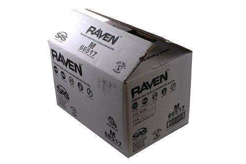 10 Pack SAS Safety 66517 Raven 6 mil Black Nitrile Disposable Gloves - Medium (100 Gloves per Box)