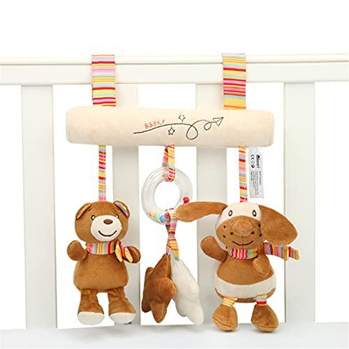 XJST Juguete Colgante del Colgante del Bebé, Cochecito Colgante De Los Juguetes De Dibujos Animados En Forma De Juguete Colgante, Juguete Suave Interactivo para Niños Y Niñas