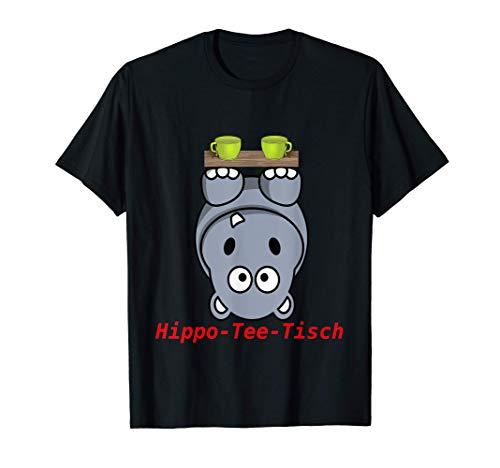 Lustiges Wortspiel Hippo hippoteetisch Nilpferd hypothetisch T-Shirt