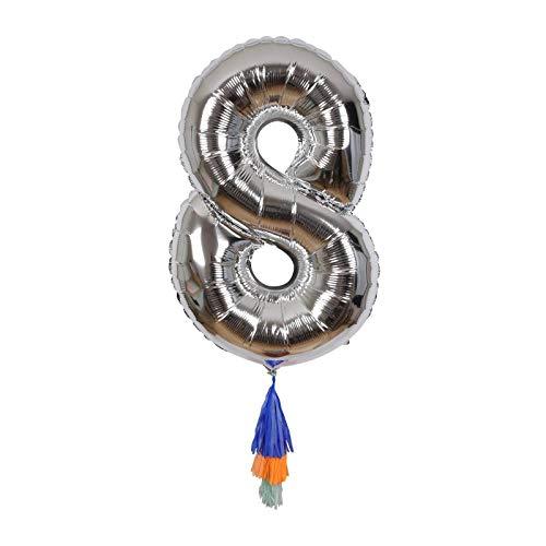 Ballon chiffre 8 avec pompons - Meri Meri