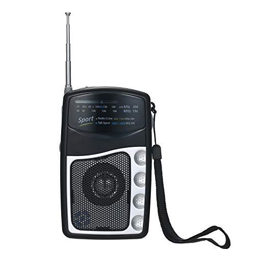 Montloxs Radio Portatile Tascabile Sintonizzazione FM AM Ricevitore Radio Altoparlante Integrato Antenna telescopica Supporto Radio a Clip Uscita Auricolare