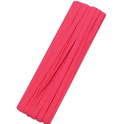 Nologo HHTC 10yards / Lot élastique Bande élastique en Caoutchouc de Corde par Roll Bande Mince Cheveux Bandeaux Accessoires Cheveux Bricolage Accessoires (Couleur : Hot Pink)