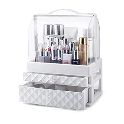 ANANAN Caja de Almacenamiento de cosméticos,Organizador de Escritorio,cajón, Productos portátiles para el Cuidado de la Piel a Prueba de Polvo, se Utiliza para almacenar cosméticos,B