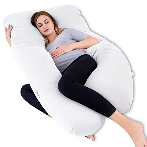 QUEEN ROSE Pregnancy Body Pillow, U-Shaped Maternity Pillow,Full Body Support...