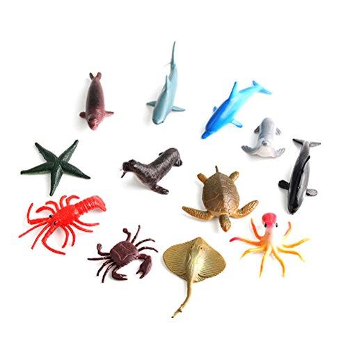 12 Plastique Ocean Animaux figure de créatures marines Jouets Fête Sac Remplissage Butin Goody