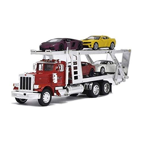 STBAAS Coche de Juguete, 1:32 Die-Cast Metal Alloy Engineering Trailer Transport Truck Simulation Ingeniería Vehículo Modelo Boy Girl Collection Collection Regalo