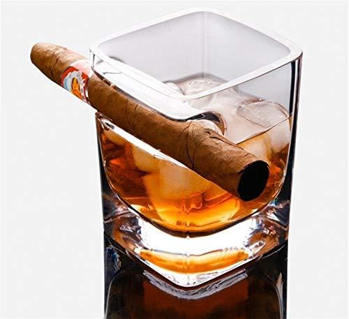 Z-Y Taza de Cafe Copa de Vino Vaso de Whisky Espesar la Plaza Copa 320ml Claro de Cristal de Whisky de Cristal Vino y el Brandy Licor Cerveza Agua Copa de Vino for el hogar la Barra del Partido