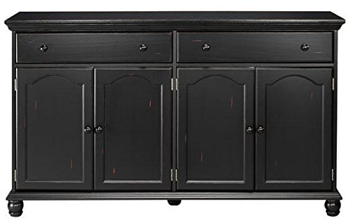 "Home Decorators Collection Harwick Black Credenza Sideboard Buffet Table 35"" H x 60"" W x 16"" D, 60"" W, Black"