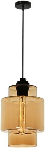 LPD Lustres Lustre Lampe Suspendue Personnalité Tête unique Verre Lustre Café Restaurant Lampe (Couleur   Ambre-A)