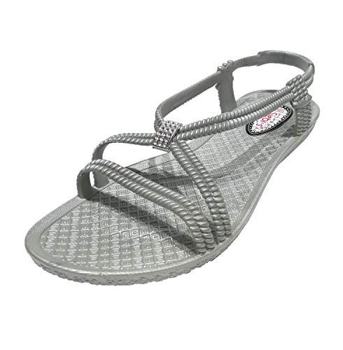 Siebi's Tenno Wellness Badeschuhe und Badesandalette Damen: Größe: 42 EU   Farbe: Grau