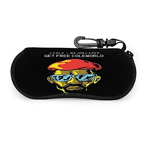 Marsheng Fundas de Gafas J. Cole Estuche para anteojos Gafas de sol multifunción con cremallera de viaje portátil de neopreno ultraligero