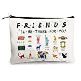 Funny Makeup Bag for Women Friends Tv Lovers - Friends Tv Show Merchandise - Cosmetic Bag Canvas Zipper Storage Pouch Toiletry Organizer Travel Make-Up Case for Friends Fans Sister Mom Birthday Gifts