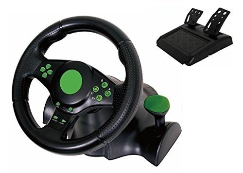Kabalo Gaming Vibration Racing Steering Wheel (23cm) and Pedals for XBOX...