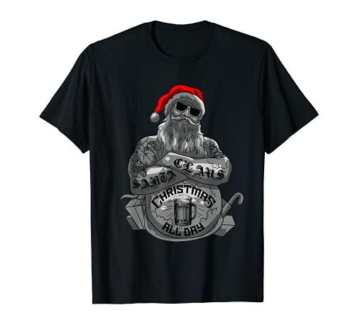 Navidad Mala Papá Noel Divertido Heavy Xmas Idea de Regalo Camiseta