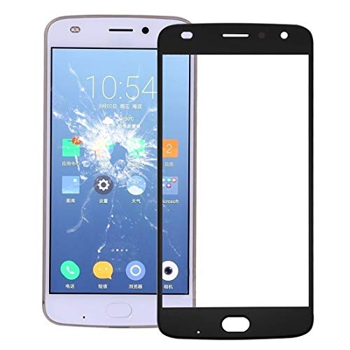 Motorola Spare Front Screen Outer Glass Lens for Motorola Moto Z2 Play (Nero) Motorola Spare (Colore : Black)