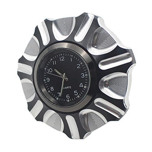 B Blesiya Tapa de aceite decorativa del tanque de combustible de aluminio CNC Premium con reloj para Harley