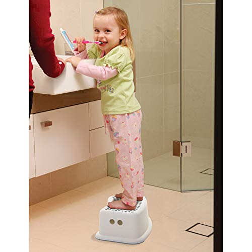 Dreambaby Step Stool Grey Dots, Toddler Potty Training Aid with Non Slip Base - Model L673