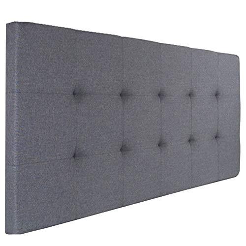 IDMarket - Tête de lit capitonnée Elza en Tissu Gris Anthracite pour lit 140 et 160 cm