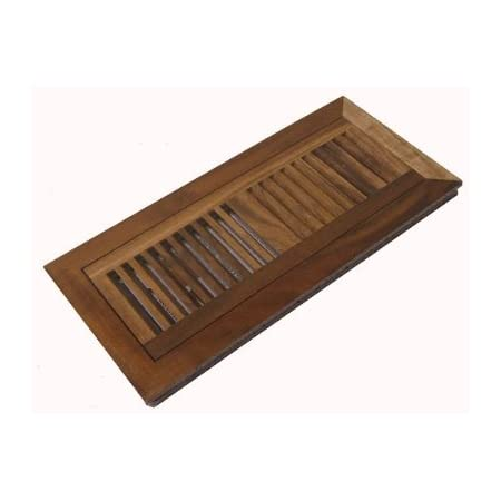Acacia Walnut Pre Finished Natural Flush Mount Wood Floor Vent Register 4 X 12 X 3 4 Heating Vents