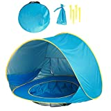 MH Trading Pop Up Beach Tent with Pool UV Protection Sun Shelter for Babies & Infants Perfect for the Beach, Garden and Park