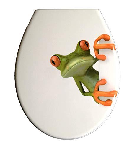 Duroplast WC Sitz Klobrille Modell Frosch mit Absenkautomatik, zur Reinigung abnehmbar, 59850
