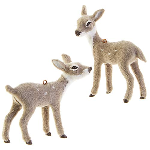 RAZ Imports Mini Grey Deer Figurine Ornaments - Set of 2 Assorted