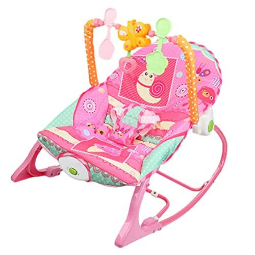 Lingge Mecedora para niños pequeños, Silla de bebé múltiple con cojín, cinturón de Seguridad Elevador, Silla Mecedora 3 en 1 para Elegir el Color del bebé, Mecedora Transpirable Sweet