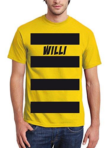 clothinx Herren T-Shirt Karneval Biene Willi Gelb Größe L