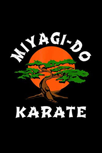 Vintage Miyagi-Do Karate Bonsai Tree Notebook 114 Pages 6''x9'' College Ruled