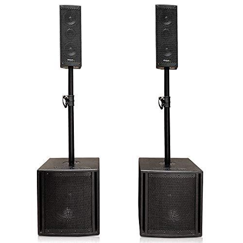 """IBIZA CUBE204 2.2 Aktiv Lautsprecher Set 10\"""" Subwoofer Aktive PA Beschallungsanlage mit eingebautem Mediaplayer (Bluetooth/USB/SD/Mic Eingang) PARTY DISCO MUSIK EVENT DJ BÜHNE SOUNDSYSTEM CLUB"""