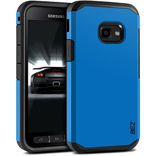 BEZ® Hülle für Xcover 4 Hülle, Xcover 4S Hülle, Handyhülle Stoßfestes Kompatibel für Samsung Galaxy Xcover 4 / 4s, [Heavy Duty Serie] Outdoor Dual Layer Armor Case Handy Schutzhülle Robuste - Blaue